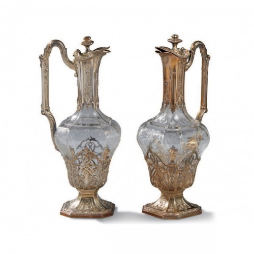 Pair of French Claret Jug