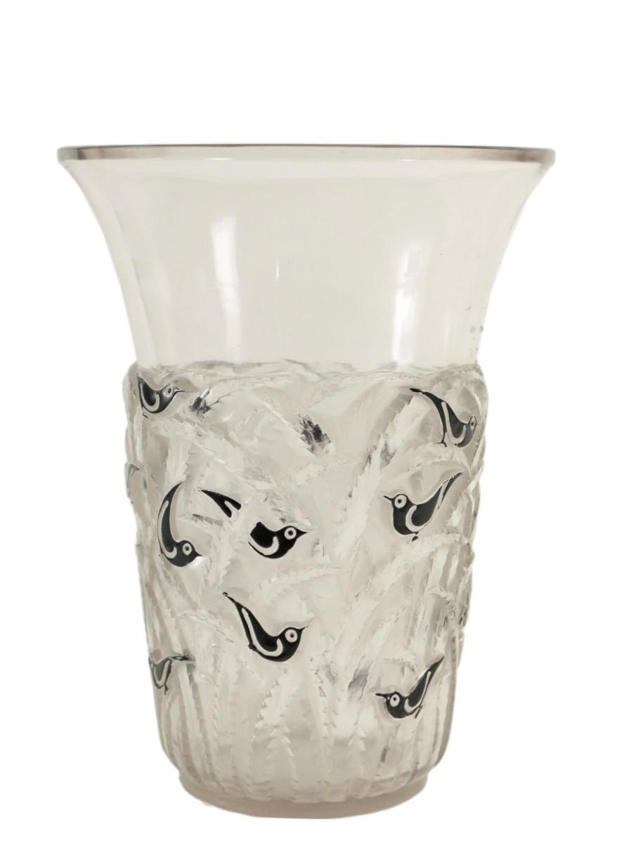 ren lalique vase borno - Lalique Vase