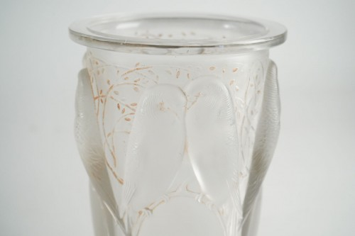 "René Lalique -  ""Ceylan""Vase  said also ""Aux huit perruches"" - Glass & Crystal Style"