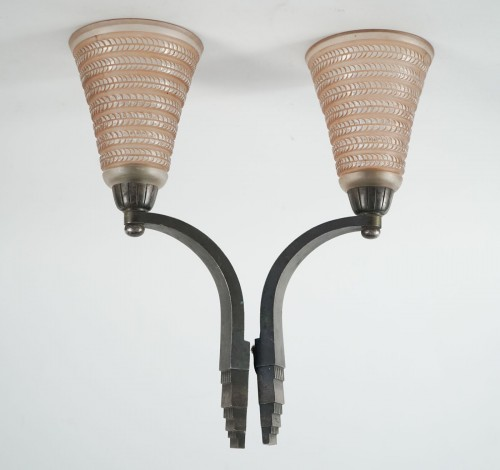 Lighting  - Pair of wall lights - René Lalique & Ducoré
