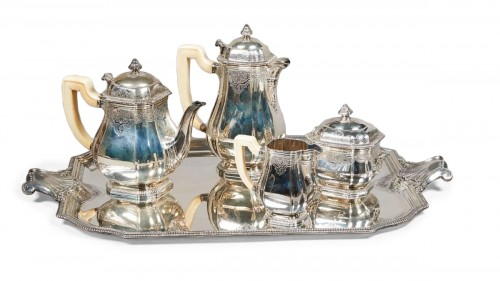 French silver strerling tea and coffee set - Lappara