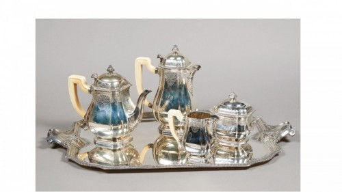 Antique Silver  - French silver strerling tea and coffee set - Lappara