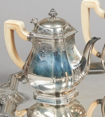 French silver strerling tea and coffee set - Lappara -