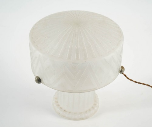 20th century - Daum Nancy's Glass Table Lamp, France, 1930