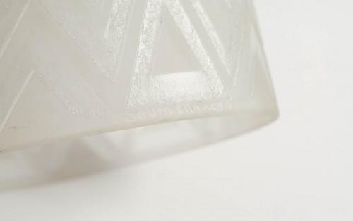 Daum Nancy's Glass Table Lamp, France, 1930 - Art Déco