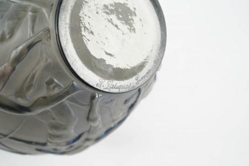 """Glass & Crystal  - René lalique Vase """"Archers""""  Topaze Colored"""
