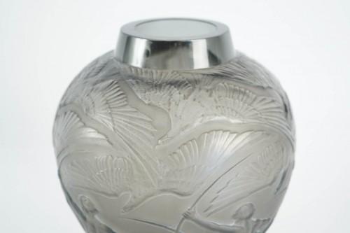"""René lalique Vase """"Archers""""  Topaze Colored -"""