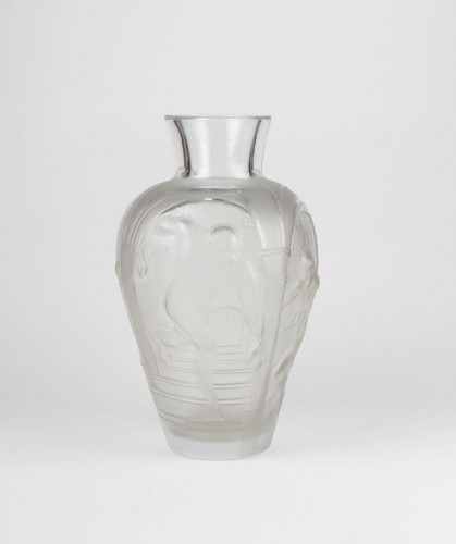 "LALIQUE  Marie Claude Monumental Vase ""Les Eleens"" -"