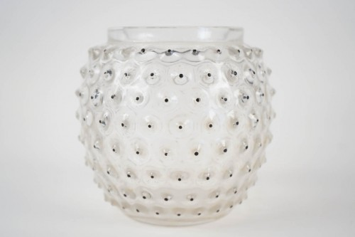 "René lalique Vase ""CACTUS"" Black Enameled - Glass & Crystal Style"