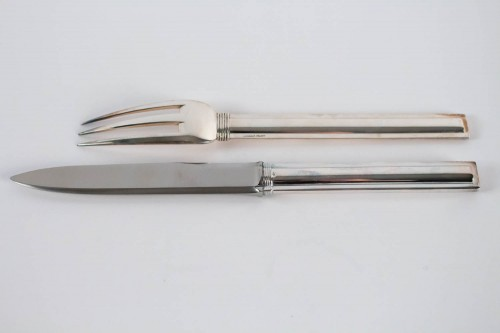 "Antiquités - Jean Puiforcat ""Cannes"" Flatware Part Service"