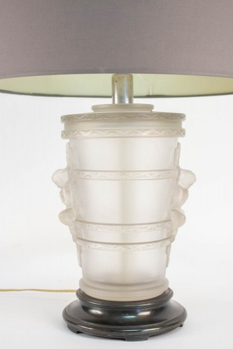 Lighting  - Pair of Marc Lalique Glass Lamp