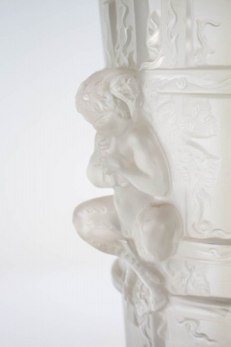 - Pair of Marc Lalique Glass Lamp