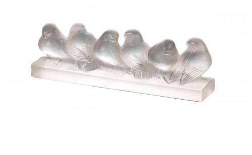 Rene Lalique - six birds