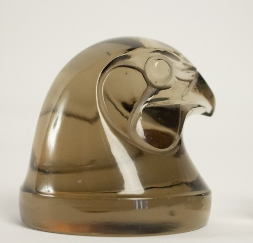 """Glass & Crystal  - Rene Lalique Car Mascot """" Tete D'Epervier """""""