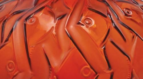 "René et Suzanne LALIQUE - Amber glass  'PENTHIÈVRE""  - Glass & Crystal Style"