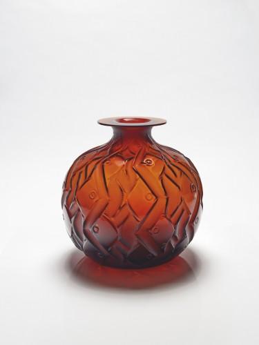 """René et Suzanne LALIQUE - Amber glass  'PENTHIÈVRE""""  -"""