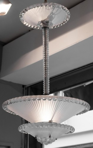 Antiquités - Rene Lalique Chandelier Perles