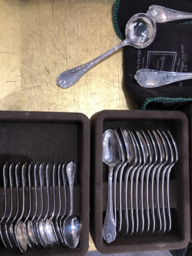 "- Christofle Flatware ""MARLY "" Silver Plated 60 Pieces"