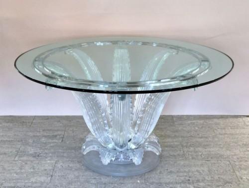 """Cristal Lalique Table """"Cactus"""" -"""