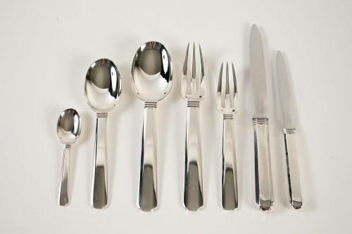 """Antique Silver  - Jean Puiforcat """"Bayonne"""" Flatware Part Service, circa 1924 92 pieces"""