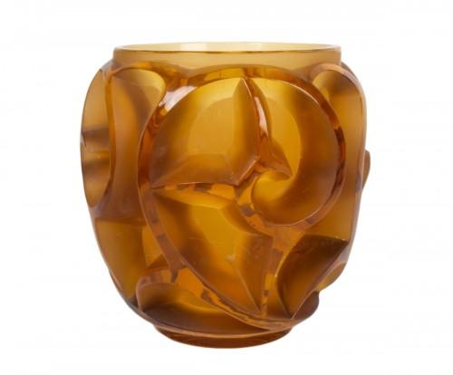 """René lalique Vase """"Tourbillon"""" Amber teinted"""