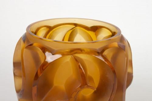 "René lalique Vase ""Tourbillon"" Amber teinted - Glass & Crystal Style"