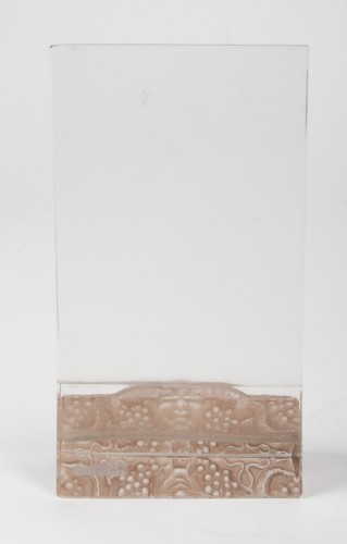 "Glass & Crystal  - Rene Lalique - Menu Holder"" Faune"""