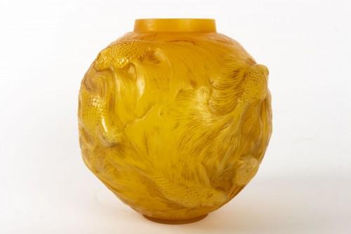 """Antiquités - René Lalique  - Vase Formose """" Butterscotch"""""""