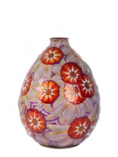Camille FAURÉ (Limoges, 1874 - 1956) - Enamelled vase