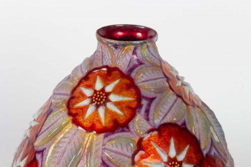 Camille FAURÉ (Limoges, 1874 - 1956) - Enamelled vase - Decorative Objects Style Art Déco