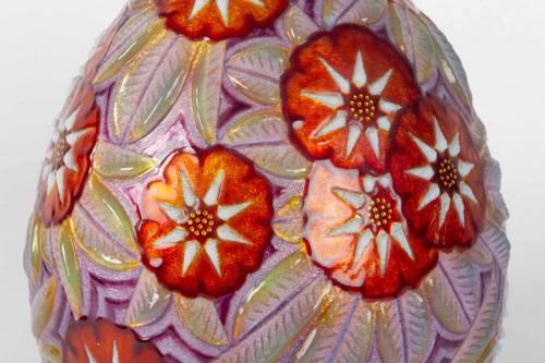 Decorative Objects  - Camille FAURÉ (Limoges, 1874 - 1956) - Enamelled vase