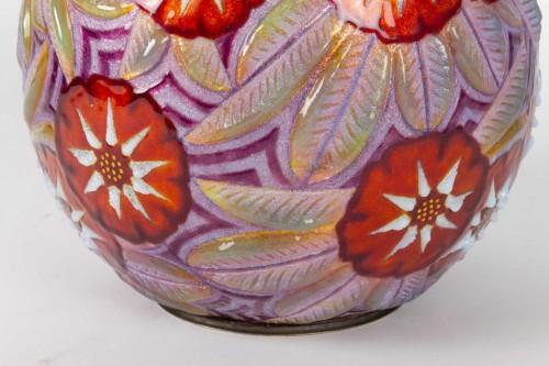 Camille FAURÉ (Limoges, 1874 - 1956) - Enamelled vase -