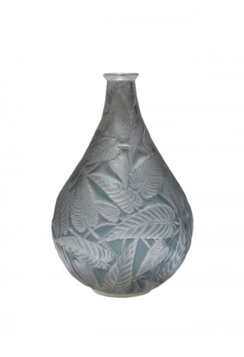 "René LALIQUE - ""Sauge"" glass vase 1923"