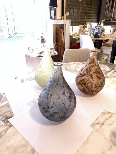 """Glass & Crystal  - René LALIQUE - """"Sauge"""" glass vase 1923"""