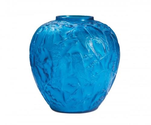 René Lalique (1860-1945)  - Vase Aux «perruches»