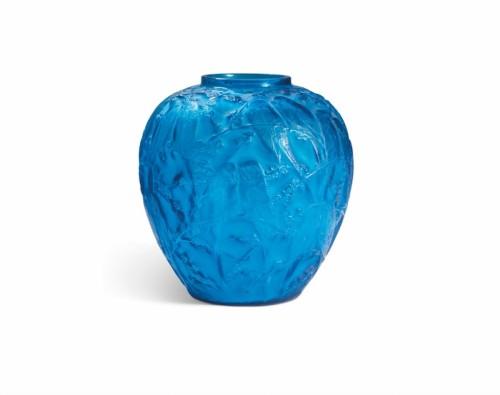 René Lalique (1860-1945)  - Vase Aux «perruches» - Glass & Crystal Style Art Déco