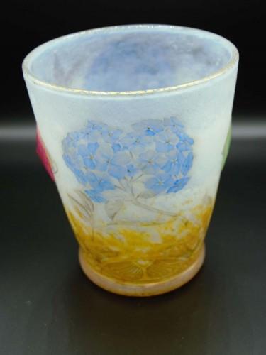"Glass & Crystal  - Daum Nancy -   ""Hydrangeas"" Vase"