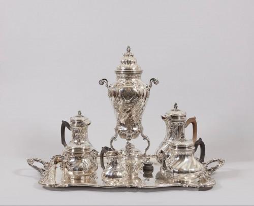 silver tea and coffee service, Rococo style