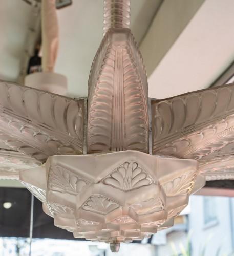 """20th century - René Lalique - Chandelier """"Stockholm"""""""
