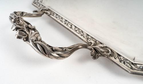 Puiforcat : Plateau Argent Massif - Antique Silver Style