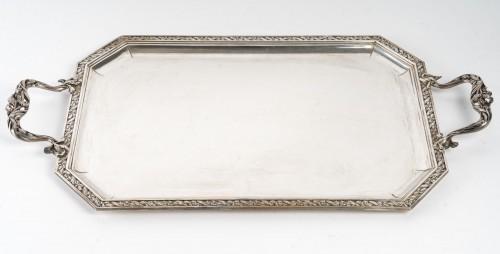 Antique Silver  - Puiforcat : Plateau Argent Massif