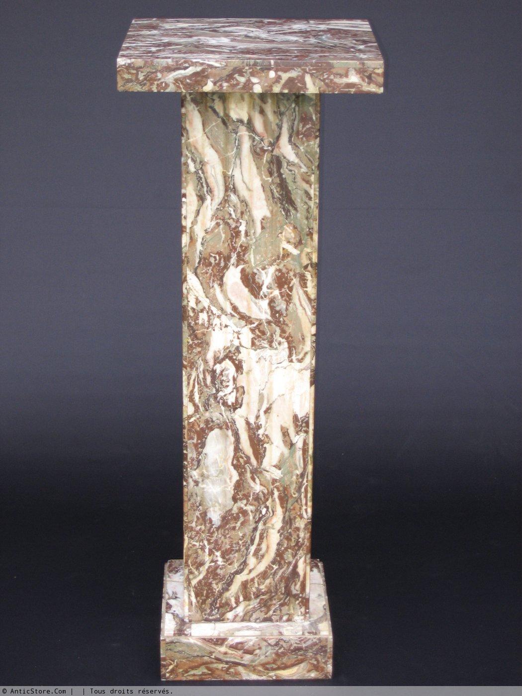 colonne en marbre art d co xxe si cle. Black Bedroom Furniture Sets. Home Design Ideas