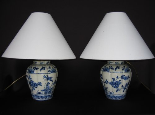 Delftware vases XVIIIth century