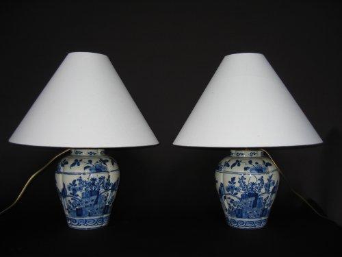 Antiquités - Delftware vases XVIIIth century