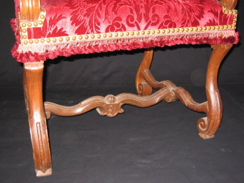 17th century - French Pair of Louis XIV armchairs