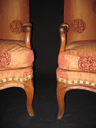 "Pair of armchairs so-called ""fireside - coin de feu"" Louis XV period - Louis XV"