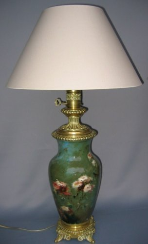 Pair of Impressionist faience lamps - Lighting Style Art nouveau