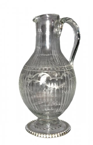 Carved crystal ewer, early 1!th century