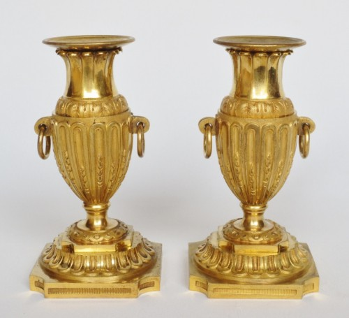 Louis XVI - Bougeoirs de toilette Louis XVI