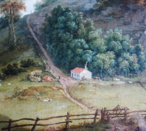 Antiquités - View of Donington Park - Theodore de Bruyn (1730-1804)